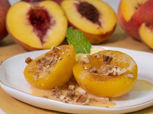 Duraznos Flameados con Helado Del Monte Frutas®
