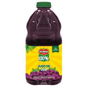 Del Monte 100% · Jugo de Uva 1,89 L